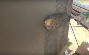 Нанесение штукатурки под шубу валиком