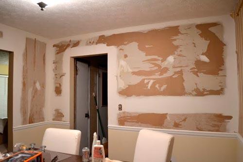 зашпаклеванная стена