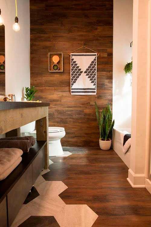 стена из ламината в туалете