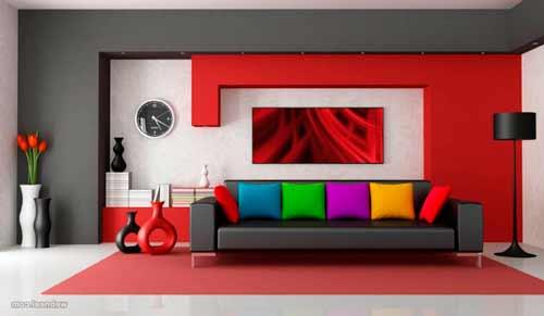 комбинированная покраска стен