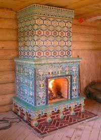 печь облицованная плиткой