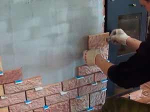 облицовка камина плиткой