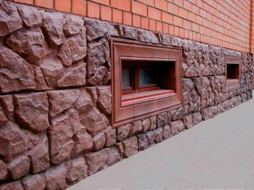 цоколь облицованный декоративным камнем