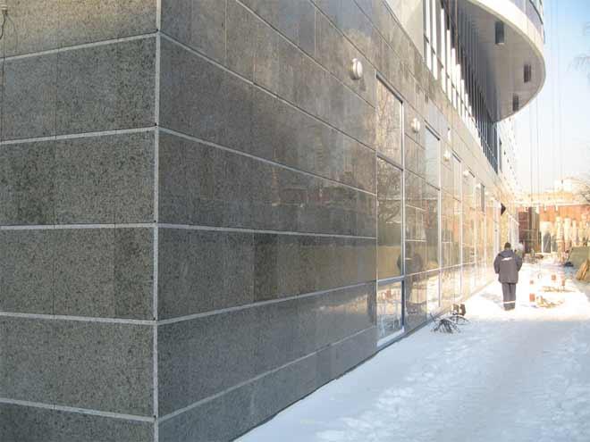 фасад из агломерата