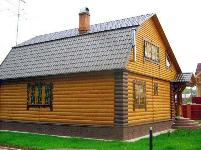 отделка деревянного дома снаружи блок хаусом