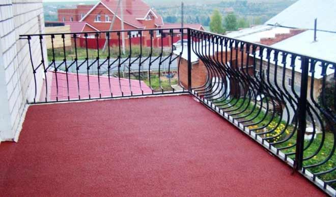 резиновая краска на балконе