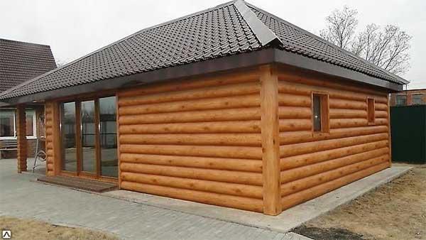 дом отделанный блок хаусом