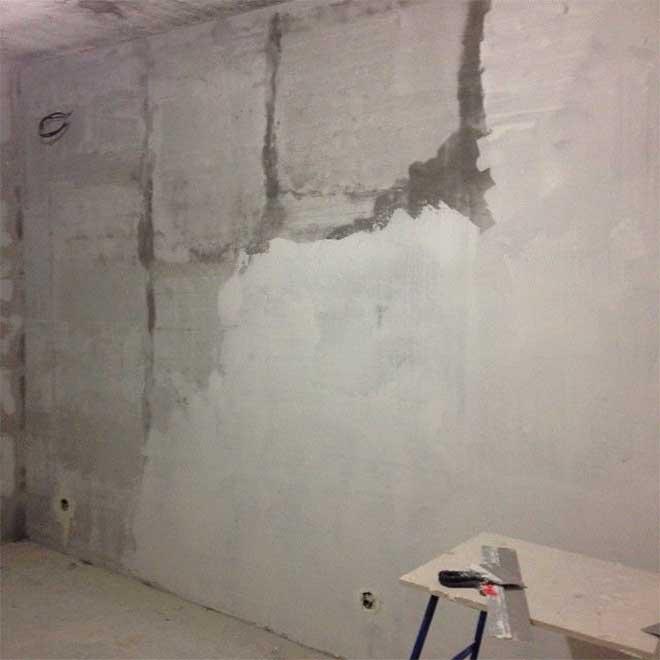 заштукатуренная стена