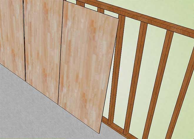 монтаж деревянных панелей на каркас