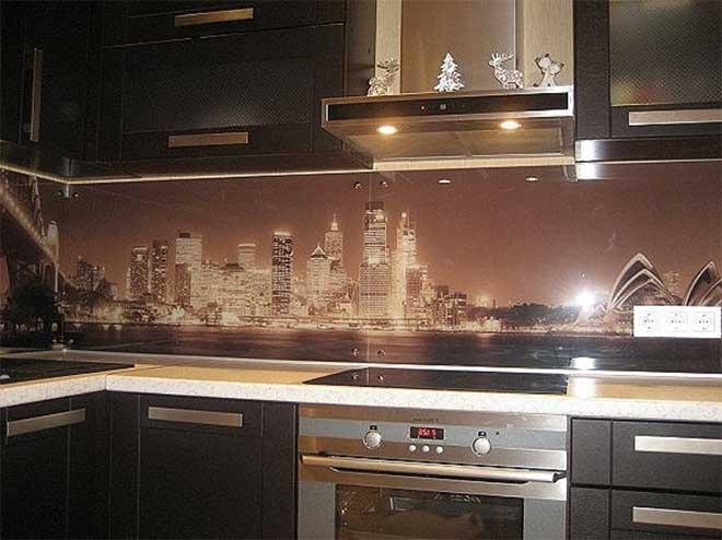 Кухонная панель с фотопечатью