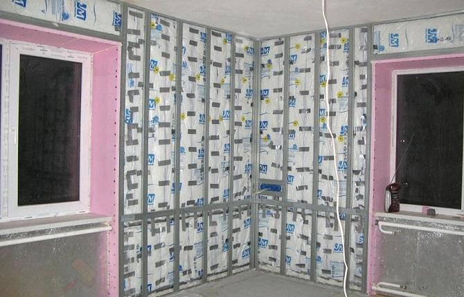 утепление стен внутри квартиры панельного дома
