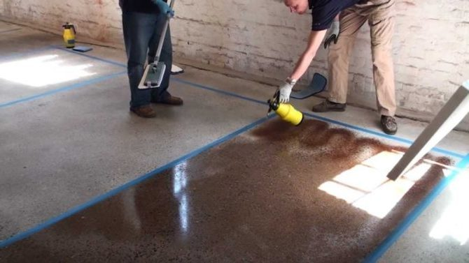 Как покрасить бетон
