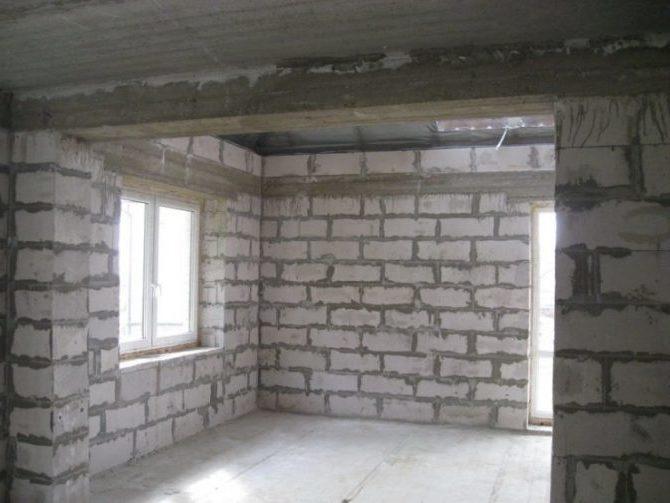 Штукатурка стен из пеноблоков