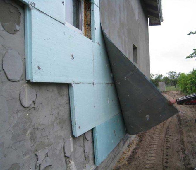 Технология утепления фасадных стен пеноплэксом