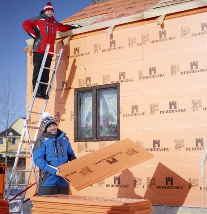 Как утеплить дом снаружи пеноплексом