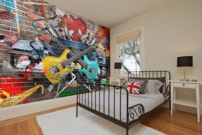 Граффити в комнате