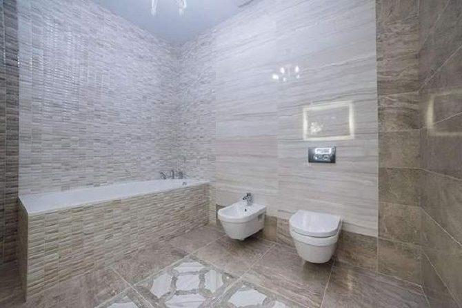 Стеновой линолеум в ванной