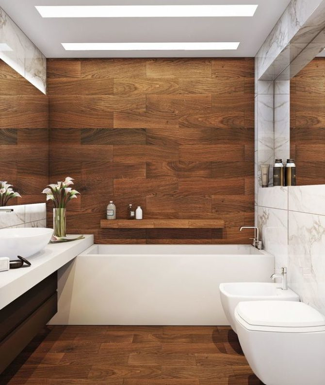 Древесина в ванной