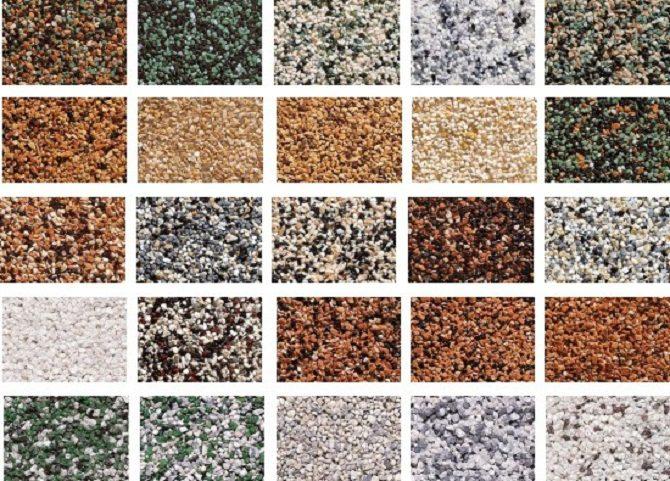 Разновидности силиконовой штукатурки