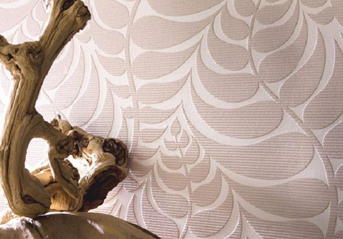 Текстурные обои в интерьере