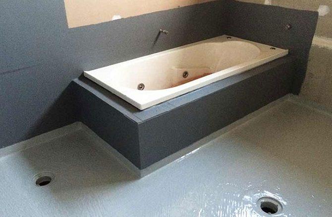 Подготовка ванной