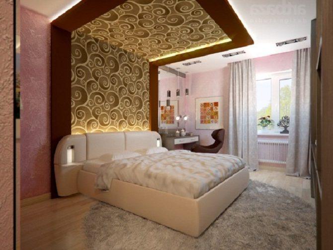 Отделка стен спальни