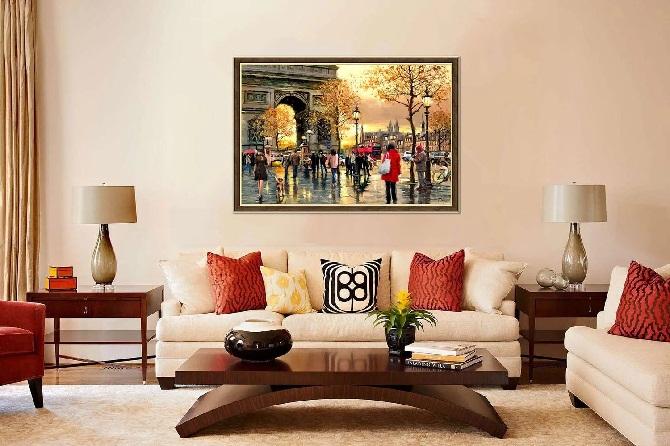 Картины в гостинной