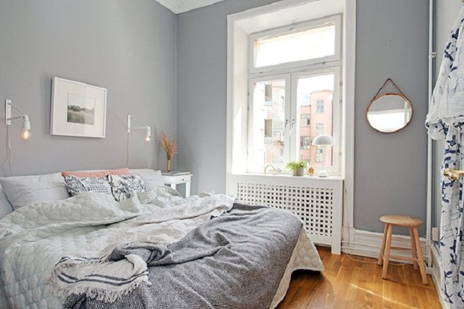 Покраска стен в спальне