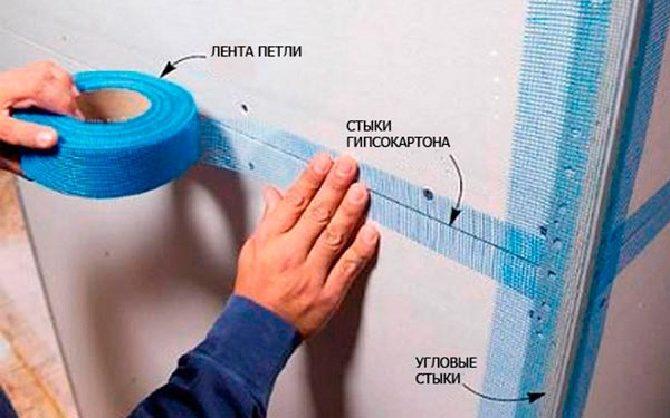 Как заделать стыки гипсокартона