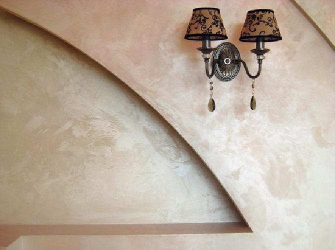 Венецианская штукатурка для гипсокартона