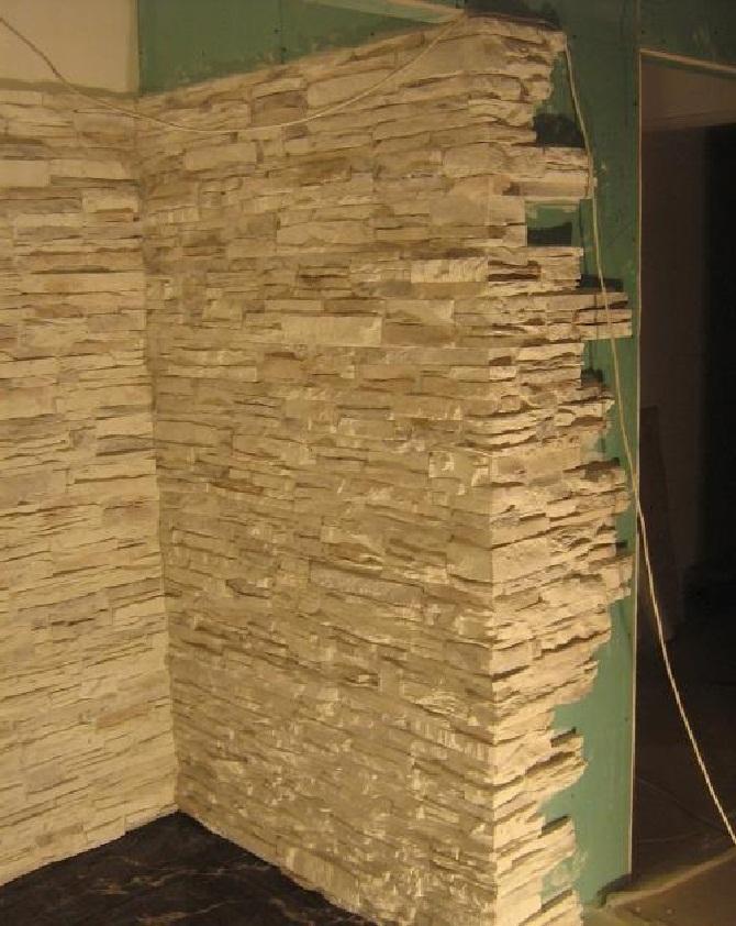 Декоративный камень на гипсокартон