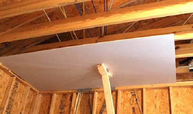 Отедлка потолка гипсокартоном