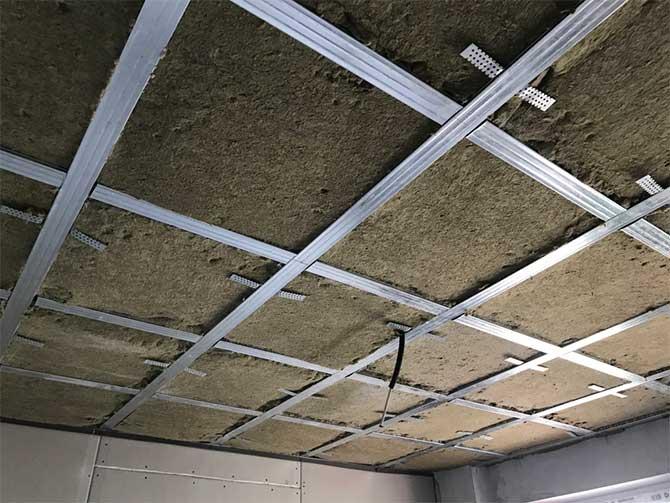 шумоизоляция потолка под гипсокартон