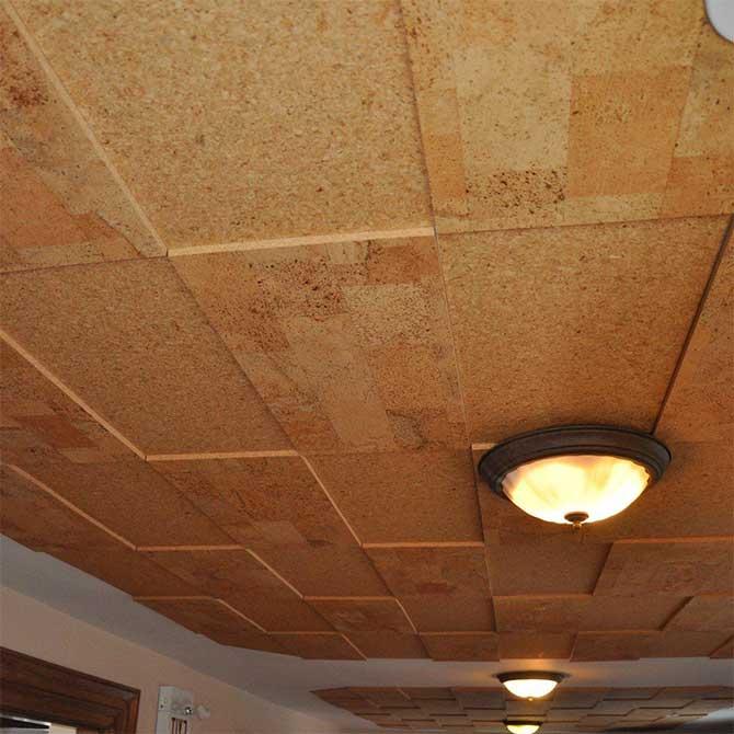 шумоизоляция потолка пробкой